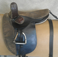 Suede seat childs saddle.